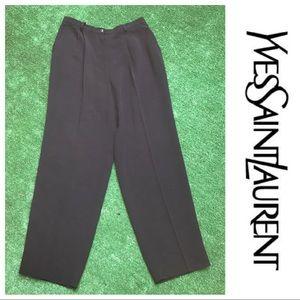 [Yves Saint Laurent] Black Trouser Pants